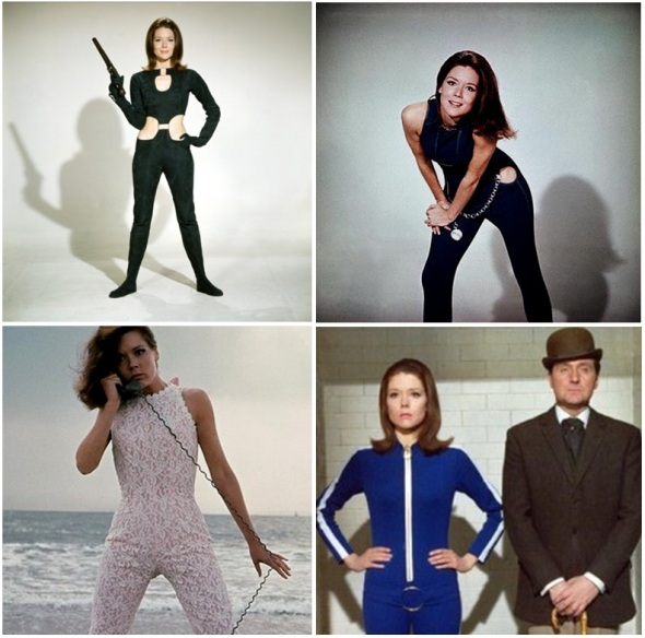 Emma Peel's versatile Catsuit looks, all worn while saving the world.