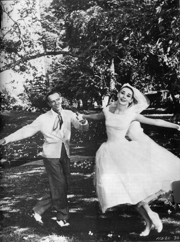 "Having to dance in mud after weeks of rain prior to shooting the wedding dress dance sequence, Hepburn reportedly quipped ""Here I've been waiting for twenty years to dance with Fred Astaire, and what do I get? Mud in my eye!"""