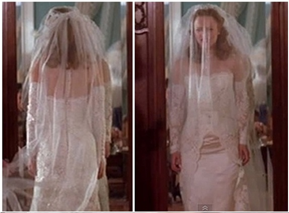 Notebook thread by thread costumes on screen for The notebook wedding dress