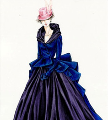 Durran's Sketch for Anna's Horse Race Gown