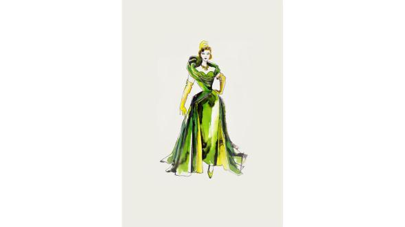 Powell's Sketch for Lady Tremaine's Ball Gown.